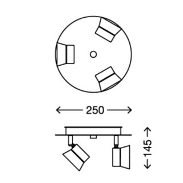 Briloner LED-Bad Deckenleuchte 2209-038