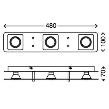 Briloner LED Super Living Led-deckenleuchte chrom 3xGU10