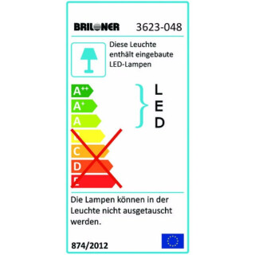 Briloner LED Deckenleuchte 4-flammig AGILED chrom,...
