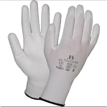 STAFFL Schutzhandschuhe PU-Touch weiß Gr. 6 EN388...