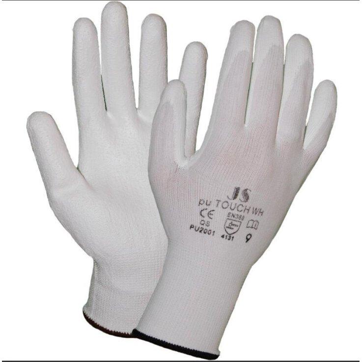 STAFFL Schutzhandschuhe PU-Touch weiß Gr. 7 EN388 Kategorie II