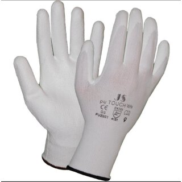 STAFFL Schutzhandschuhe PU-Touch weiß Gr. 7 EN388...