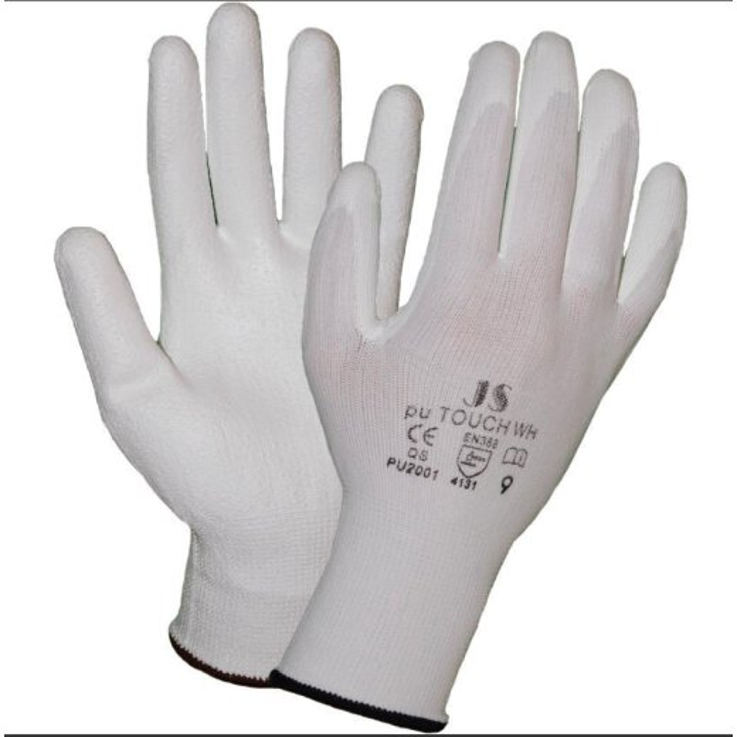 STAFFL Schutzhandschuhe PU-Touch weiß Gr. 8 EN388 Kategorie II