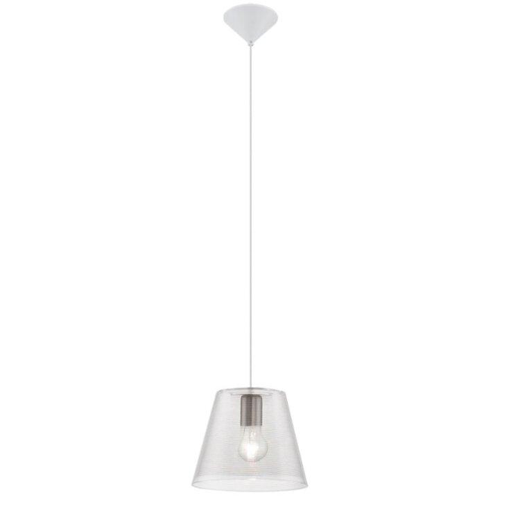 Pendel Beleuchtung Lampe 1-flammig weiß transparent Eglo 13516