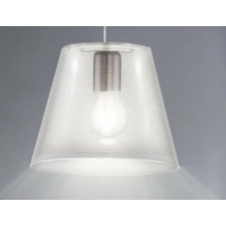 Pendel Beleuchtung Lampe 1-flammig weiß transparent Eglo 13516