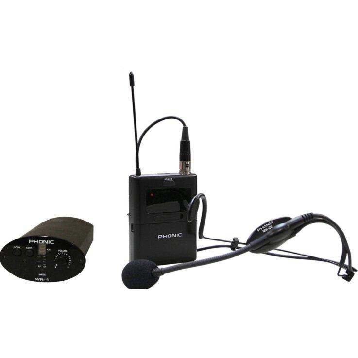 Phonic FunkHeadset & Empfänger WH-1S für Safari System