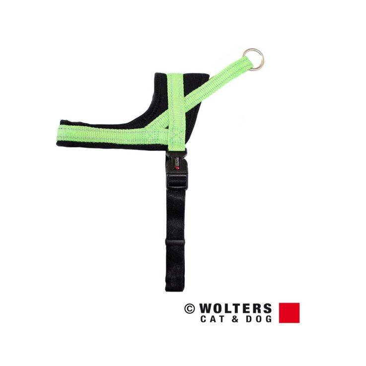 WOLTERS Geschirr Soft & Safe lime/schwarz Gr. 1; 45-55 cm