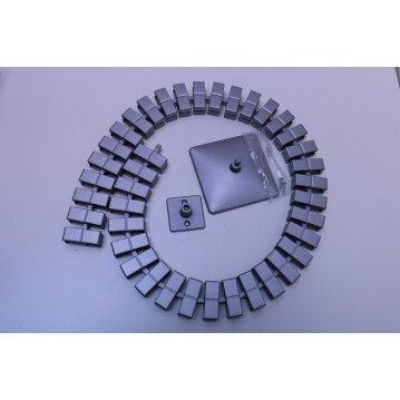 Vertikale Kabelführung 40 Kettenglieder Farbe Silber