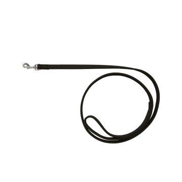 Wolters Hundeleine Leder Terravita flach Schwarz 200 cm x 15 mm