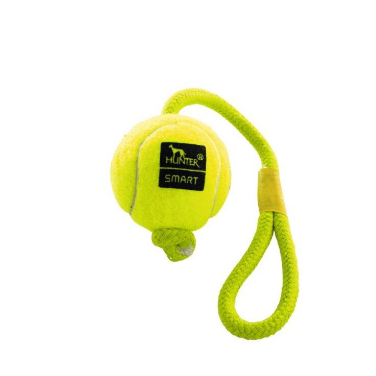 Hunter Hundespielzeug Tennisball mit Kordel