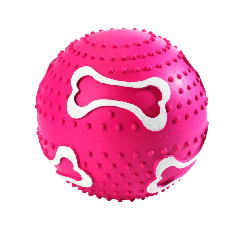 Hunter Hundespielzeug Ball ohne Squeeker, 8 cm Vollgummi rot