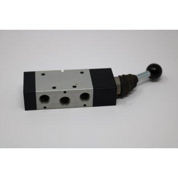 Pneumatik 3/2-Wegeventil handbetätigt Fronthebel  monostabil