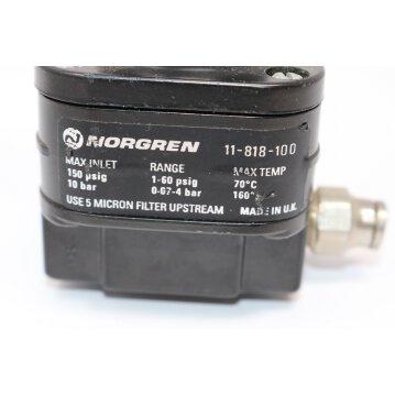 Präzisions-Druckregler  Norgren Pneumatikregler 11-818 G1/4 240l/min 0°C 0.07bar