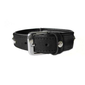 DAS LEDERBAND Leder Halsband 75cm 40mm schwarz Roma