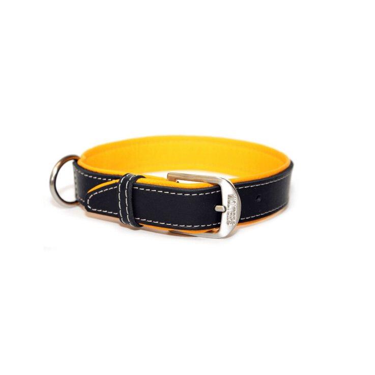 Wolters Halsband Terranova Fettleder Mango/Schwarz 35 cm/20 mm