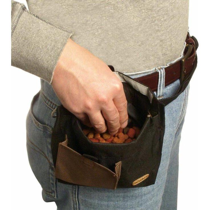Karlie Flamingo Trim Treat Snack Bag für das Training, schwarz 19 x 22 cm