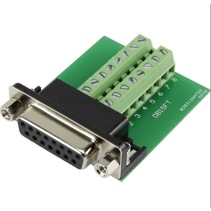 TRU COMPONENTS DSUB15F-16TB-2 1229333 D-SUB Buchse 90 ° Polzahl: 15 Schrauben