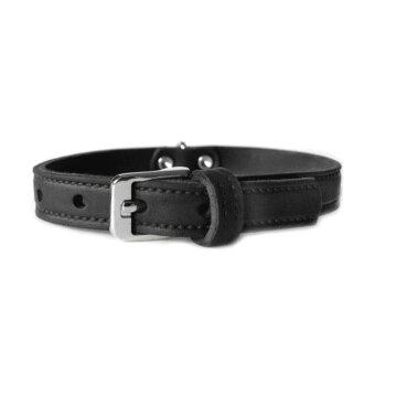 Das Lederband Hundehalsband Weinheim schwarz 52 cm x 20 mm
