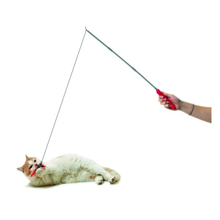 Katzenspielzeug Kitty High Tech Maus mit Spielangel