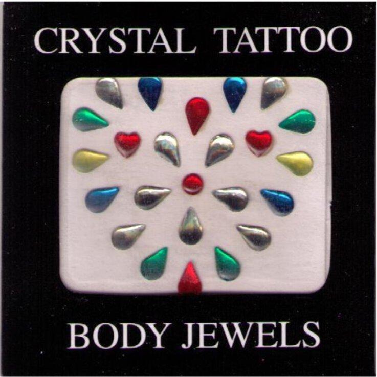 Crystal Tattoo / Body Juwels - Herz bunt