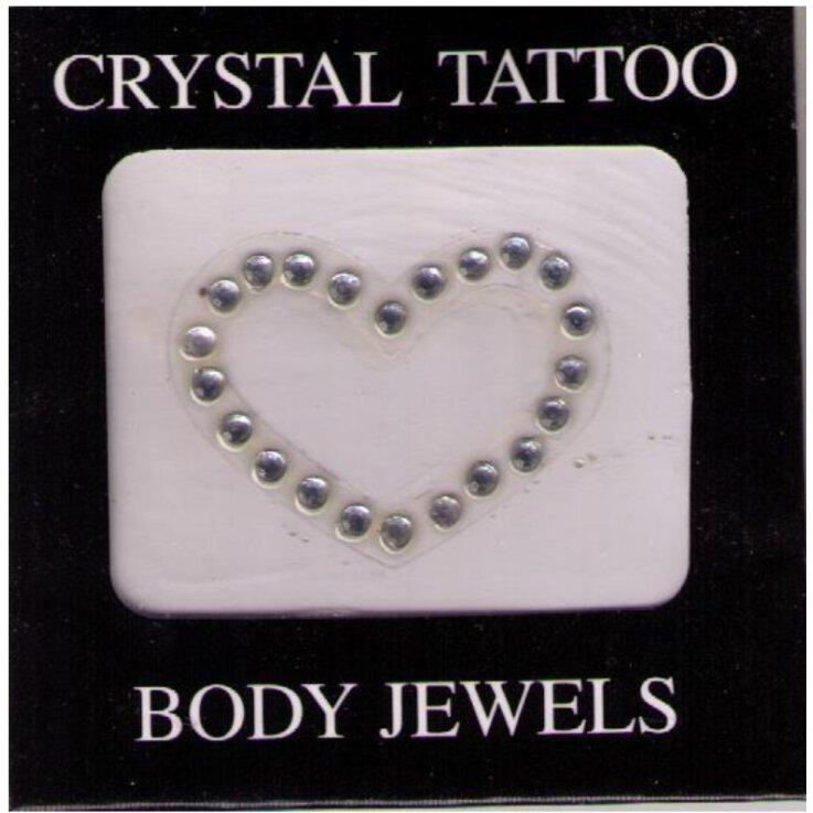 Crystal Tattoo / Body Juwels - Herz