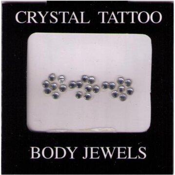 Crystal Tattoo / Body Juwels - 3 Blüten