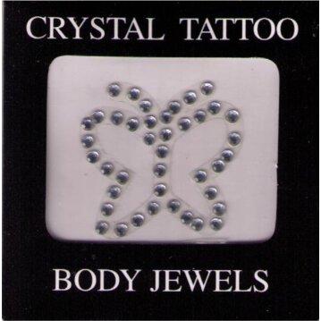 Crystal Tattoo / Body Juwels - Schmetterling