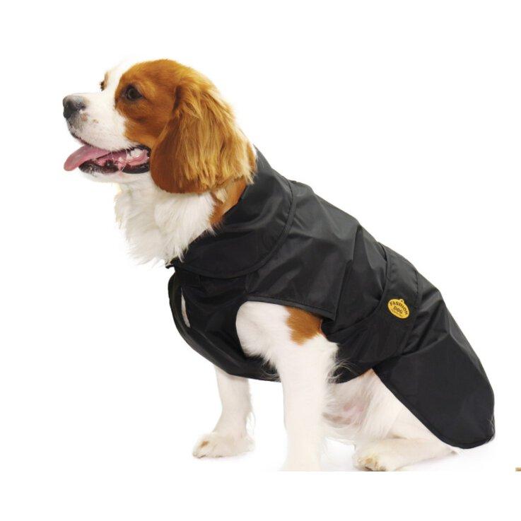 Fashion Dog - Wasserdichter Mantel mit doppeltem schwarzem Nylon Gr. 47 cm