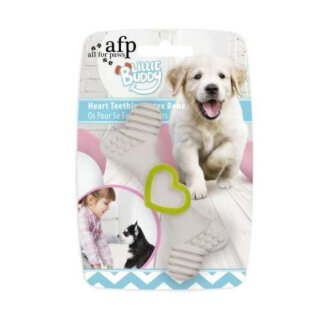 All for Paws Little Buddy Heart Teething Latex Bone