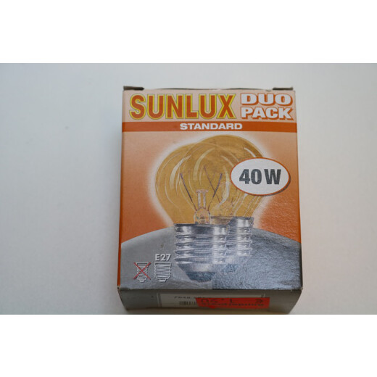 Sunlux Standard 40W Lampe Duo Pack