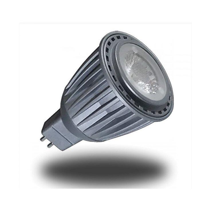 LED Spot Lampe - 7W, GU5.3, 12V, Sharp COB Chip, Weiß