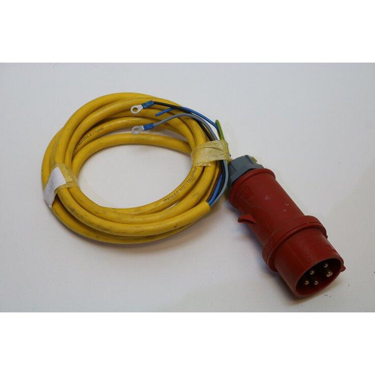 Geräteanschlusskabel QVE K35 380V 5Polig mit 16A Stecker
