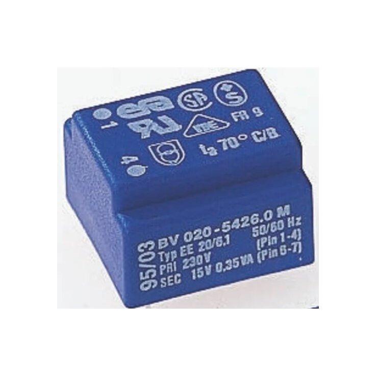 Printtrafo, Trafo 6V ac/230V ac Durchsteckmontage