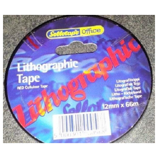 Sellotape Lithographic Tape 12mm x 66m