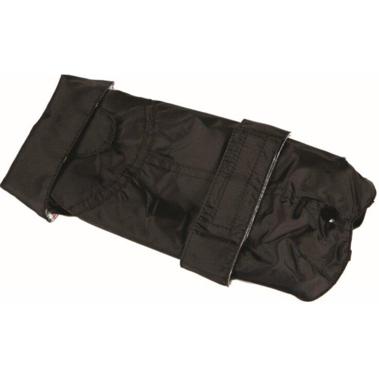 Fashion Dog - Wasserdichter Mantel mit doppeltem schwarzem Nylon Gr. 55 cm