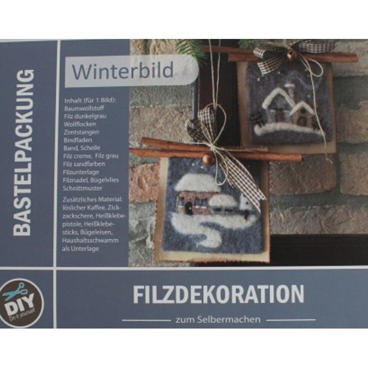 Bastelpackung Winterbild (Filzdekoration)