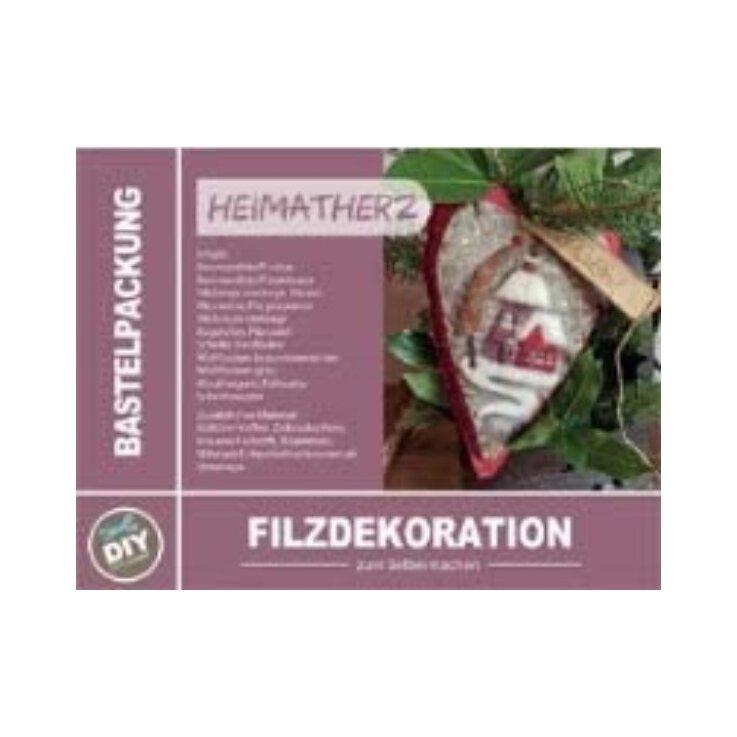 Bastelpackung Heimatherz (Filzdekoration)