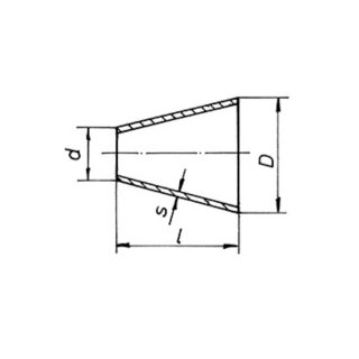RTI Geschweißte Reduzierstücke konzentrisch 273 x 139,7 x 3,0 mm