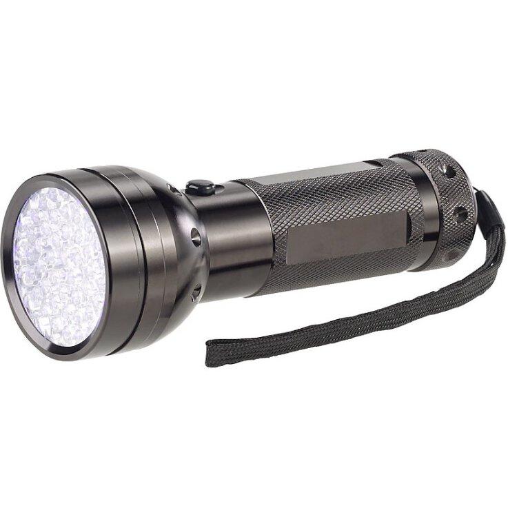 Lunartec 2in1-UV-Taschenlampe und Geldscheinprüfer