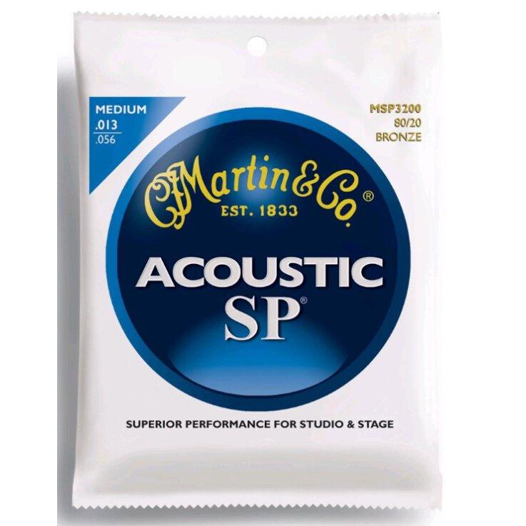 Martin Strings MSP3200 SP Bronze Medium Saitenset für Westerngitarren