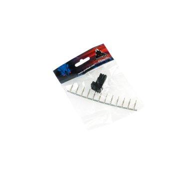 Phobya VGA Power Connector 6Pin Stecker (6-eckig) inkl. 6...