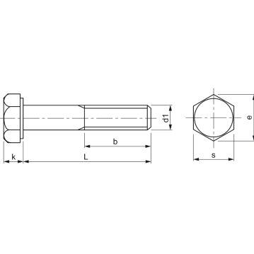 8.8 M8 x110 verzinkt Sechskantschrauben mit Schaft (DIN 931) 10 Stück