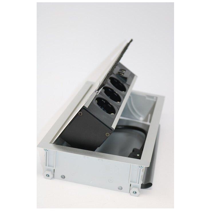 Einbausteckdose Schreibtisch Arbeitsplatte 2 x PC (RJ45)