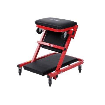 Werkstattliege und -klappsitz